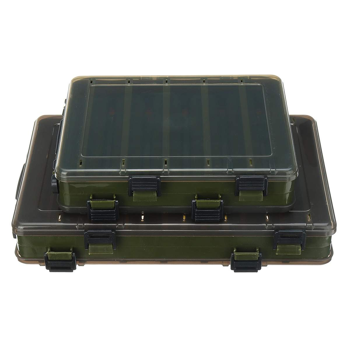 Fishing Tackle Box for Large capacity Bait Double Sided Plastic Lure Boxes Fly Fishing Tackle Storage Box Supplies High Strength|Fishing Tackle Boxes| |  - title=