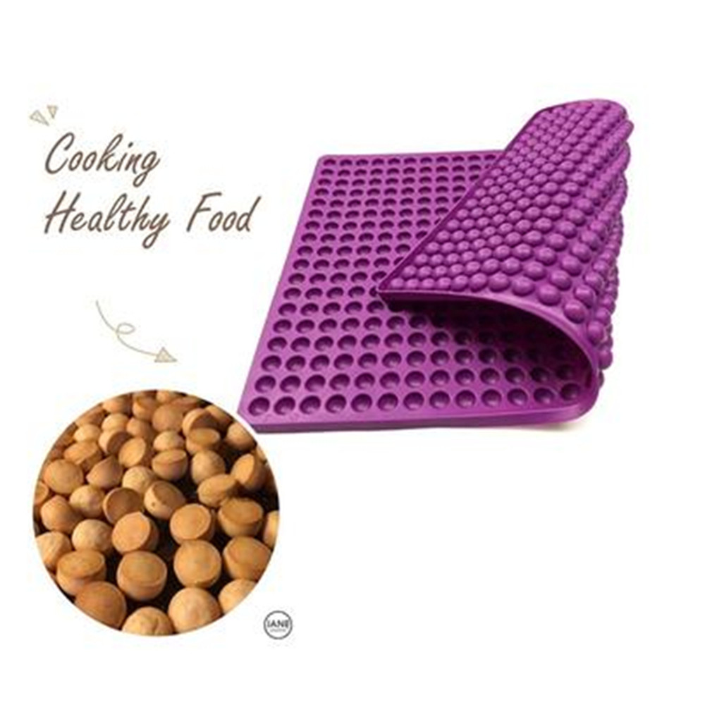 Flexible Silicone Dog Food Biscuit Mould Round Chocolate Drops Mold Dog Treats Pan Gummy Candy Molds Pet Treats Baking Mold