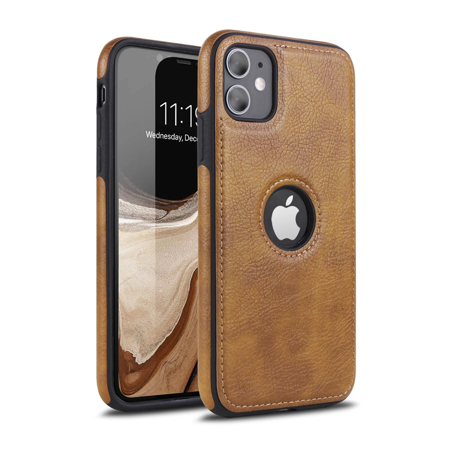 Applicable Car Line Skin Stitching Mobile Phone Skin Case For iPhone 11pro Max 3