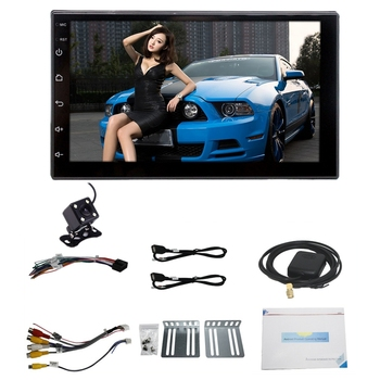7Inch 2 DIN Android 8.0 Car Multimedia Universal Player Car GPS Navigation Integrated Machine Smart 2.5D Tempered Screen Bluetoo