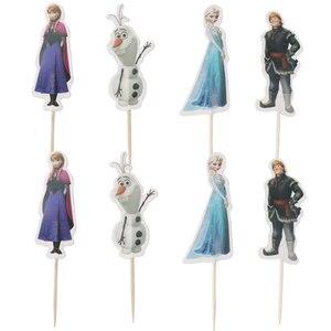 Новый детский праздничный набор «Холодное сердце 2», Подарочная коробка для конфет Disney, одноразовая бумажная чашка, папиросная ткань, подар...