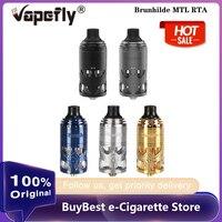 Atomizador cigarro eletrônico brunilda mtl rta vapefly  tanque 5ml com bobina de ohm e 6 níveis de controle de fluxo de ar vaporizador vaporizador vs zeus x