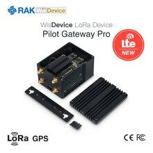 Rak7243 piloto gateway pro 4g lora gateway módulo poc raspberry pi 3b + sx1301 rak2013 módulo celular com gps lora antena q199
