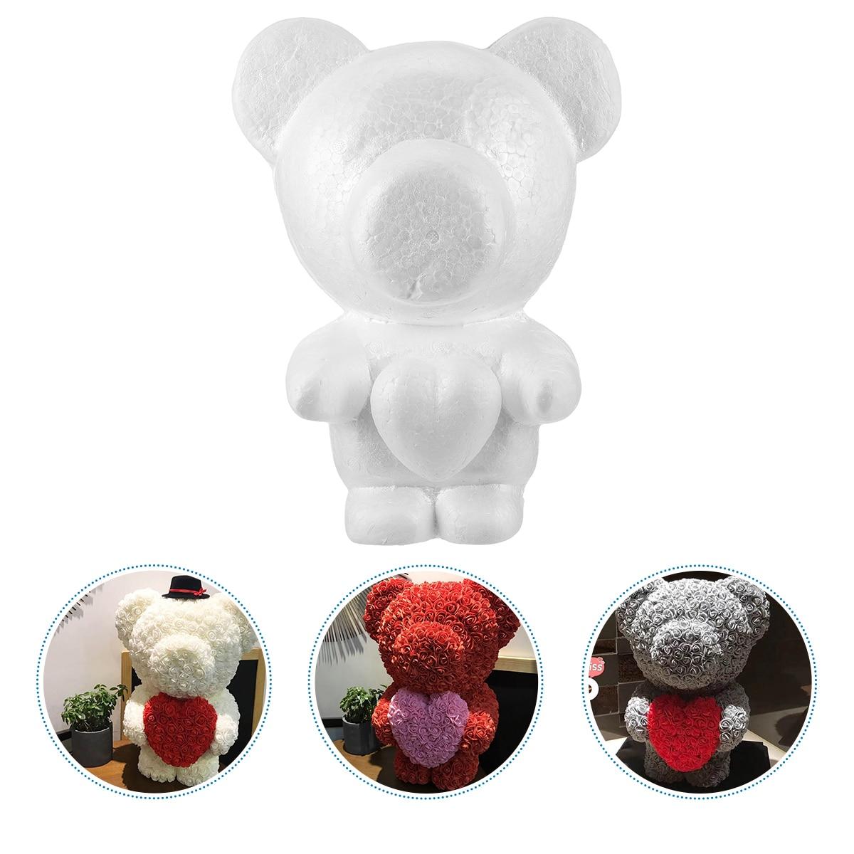 1 шт пенополистирол медведь пресс-формы, полистирол Медведь DIY пресс-формы, оам медведь Форма моделирования для ко Дню Святого Валентина Сва...