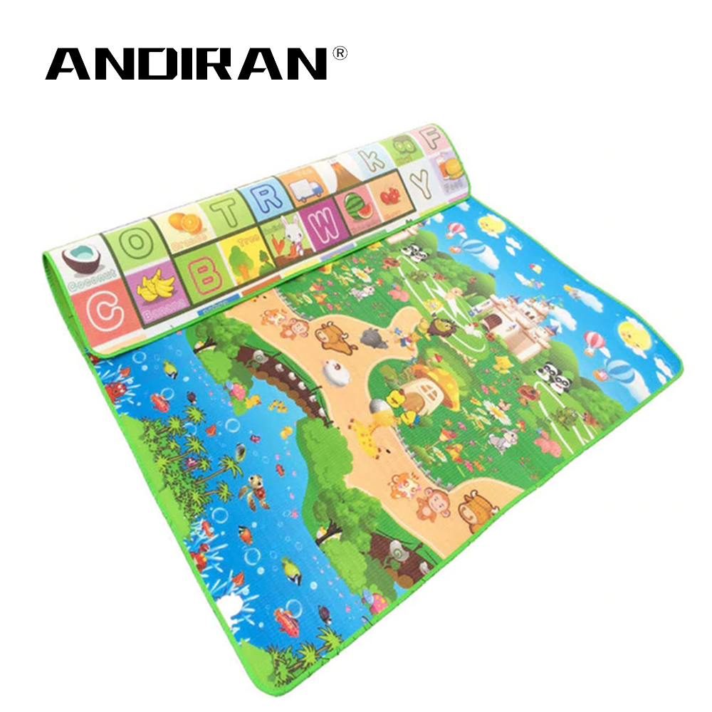 Baby Toy Crawling Puzzle Thin Play Mats 150X180X0.5CM Two Sided Infant 59X70IN Climb Pad Thick Play Carpet