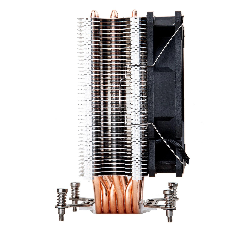 cobre led cpu cooler ventoinha de resfriamento 05