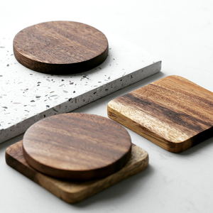 1 шт. коврик для чашки деревянная подставка круглая квадратная Подставка под кружку коврик для чашки деревянный стол коврик набор подставок...