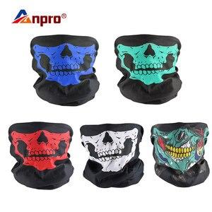 Image 1 - Фестивальные маски с черепом для мотоцикла, велосипеда, лыжного черепа, полумаска для лица, полиэстер, шарф призрак, скелет, шея, Теплые воротники, защита на запястье