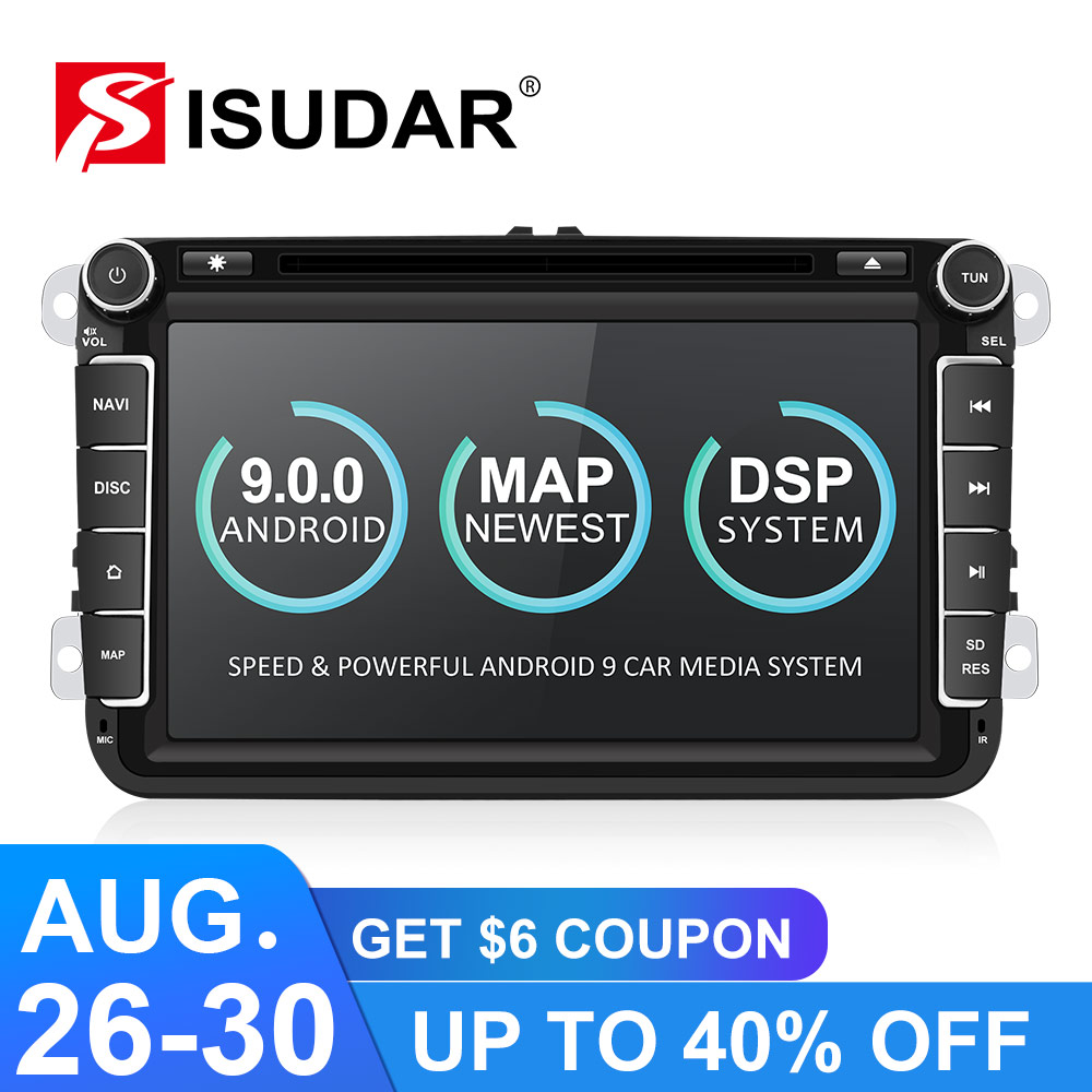 Android 4.4.4! Quad Core 1.6GHZ! 8 Inch Car DVD Player For VW/Volkswagen/POLO/PASSAT/Golf/Skoda/Octavia/Seat Wifi GPS BT FM Map Toyota Land Cruiser