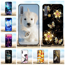 For Samsung Galaxy A7 2018 Case Soft TPU Silicone A750F Cover Dog Patterned Shell