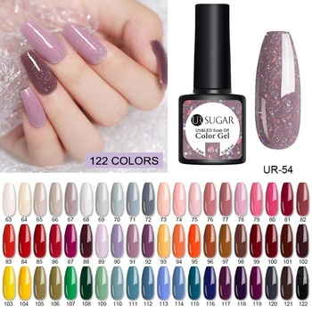 UR SUGAR 62pcs 40pcs Color Gel Nail Polish Set 122 Colors Semi Permanent UV Led Gel Varnish Soak Off Nail Lacquers Base Top Coat недорого