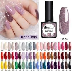 UR SUGAR 62pcs 40pcs Color Gel Nail Polish Set 122 Colors Semi Permanent UV Led Gel Varnish Soak Off Nail Lacquers Base Top Coat