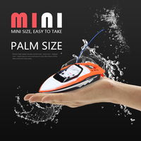 Rechargeable Mini High speed Remote Control Boat 2.4G Electric Sport RC Boat Outdoor Toys for Children Boys Gifts model ship