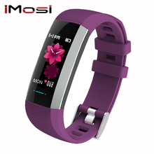 Imosi 2019 Women Music Control smart bracelet heart rate Blood press wristband fitness tracke Men watch Pk Mi Band 4