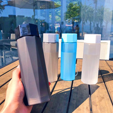 380ML Frosted Water Bottles,4-Color Crystal Bottle Three-Dimensional Cutting Plastic Tea Portable with Handle