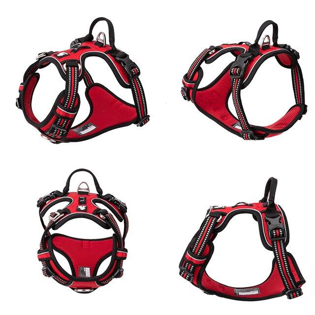 Truelove Pet Reflective Nylon Dog Harness No Pull Adjustable Medium Large Naughty Dog Vest Safety Vehicular Lead Walking Running- 2