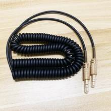 Cabo enrolado universal do áudio aux da substituição de 3.5mm para marshall stockwell woburn kilburn ii ms2 alto-falante macho para jack masculino