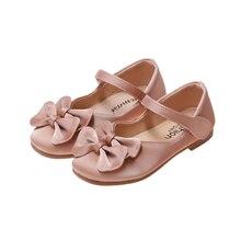 Детская обувь; школьная обувь принцессы для девочек; цвет бежевый, розовый, черный; Детские кожаные вечерние туфли на плоской подошве; обувь для маленьких девочек; Детские повседневные кроссовки