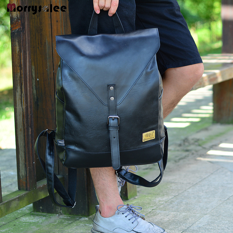 Fashion backpack male travel backpack mochilas school mens leather business bag large laptop shopping travel bag
