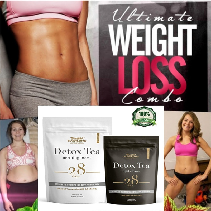 <font><b>28</b></font> <font><b>Days</b></font> Evening & Morning <font><b>Detox</b></font> <font><b>Tea</b></font>, Burning Fat Colon Cleanse Flat Belly Natural Balance Accelerated Weight Loss Products image