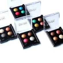 IMAGIC  4 Colors Professional Eyes Makeup Pigment Eyeshadow Waterproof Eye Shadow Palette With brushes Beauty