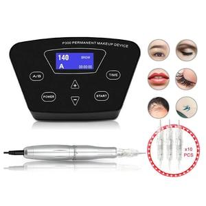 Image 1 - Biomaser máquina para maquillaje permanente profesional, maquillaje para tatuaje de cejas, Microblading, Kit DIY con aguja para máquina de tatuaje