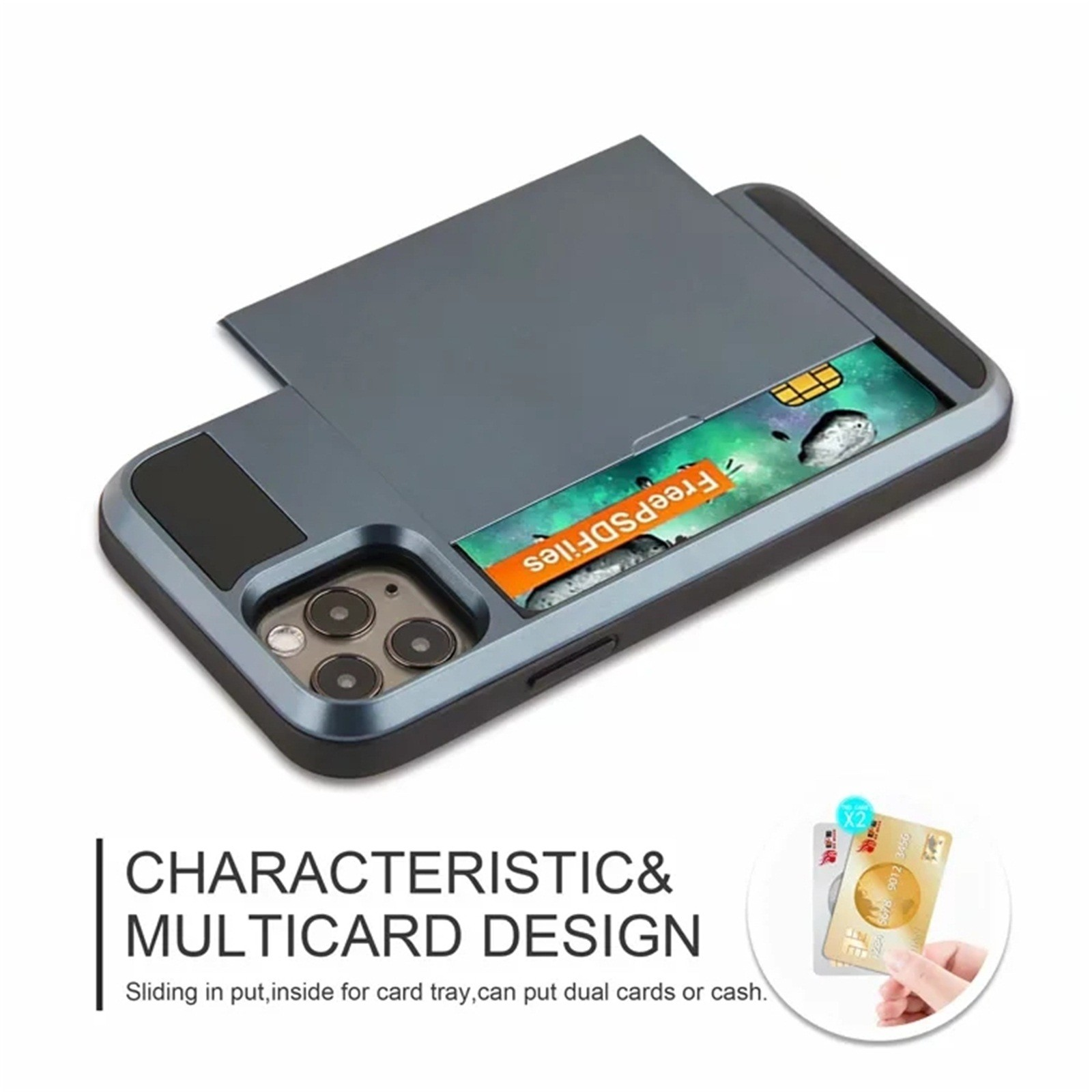 The Armour Slide Card Wallet Phone Case For iPhone 12 Series