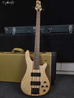 43 inch natural color 4 string neck through active electric bass guitar ash wood guitar body combined by 9 pieces wood