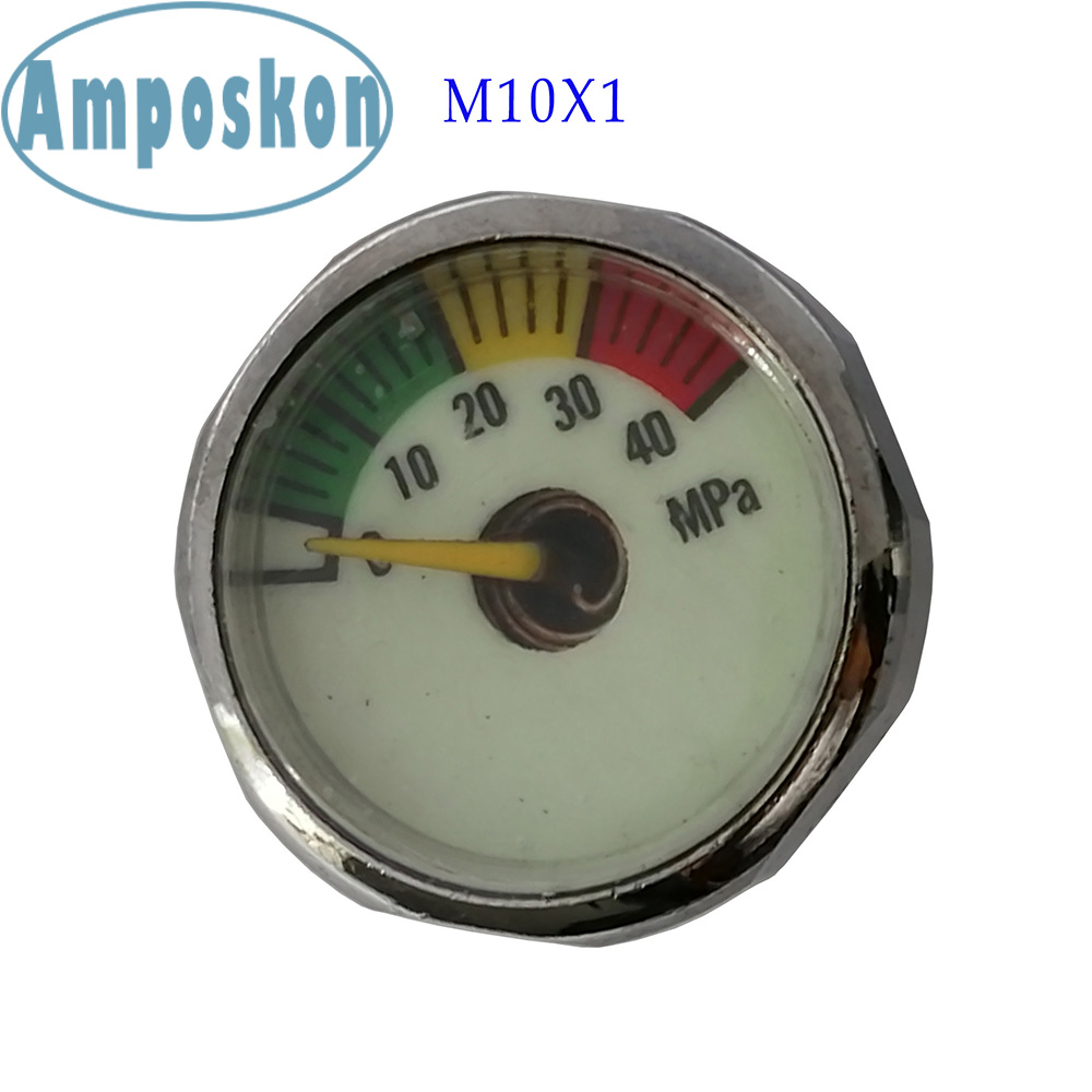 New Hot PCP Paintball Airforce Scuba Din Valve Regulator Pump M8x1 M10x1 Luminous Mini Air Pressure Gauge Manometre 20/30/40MPA