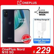 Oneplus nord n10 5g oneplus loja oficial mundial premiere versão global 6gb 128gb snapdragon 690 smartphone 90hz exibição 64mp