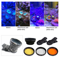 Аквариумные линзы для аквариума для морской и соленой воды, фотообъектив для телефона, фильтры для камеры, макрообъектив, рыба, водный терра...