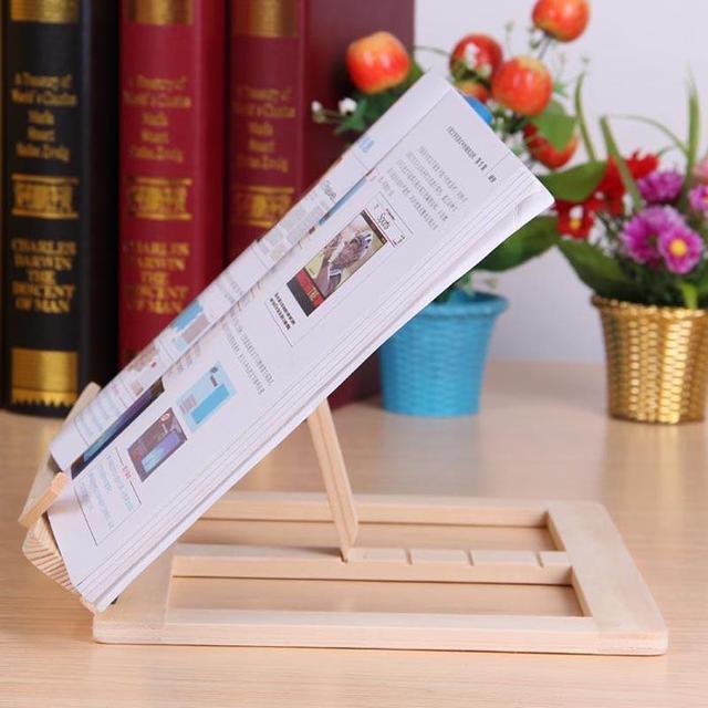 Wooden Frame Reading Bookshelf Bracket Book Reading 8