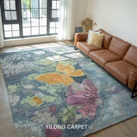 Yilong 9'x12' Handknotted Wool Carpets Modern Butterfly Antistatic Rugs (YLRugP689)