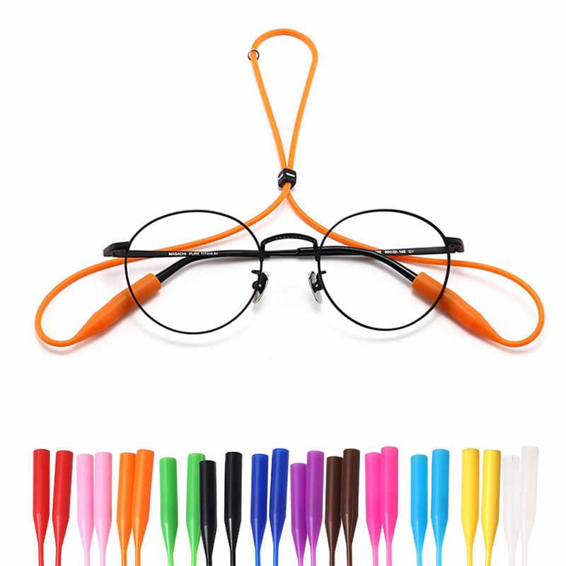 1 Pcs מתכוונן סיליקון משקפיים רצועת משקפיים בטיחות להקת רצועת מייצבת משקפי שמש להקת כבל מחזיק ספורט משקפיים חבל