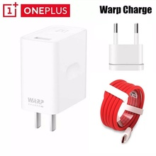 цена на Original OnePlus 7T Warp Charge Power Adapter Warp 30W EU Charger EU Charger nylon Cable Quick Charge 30W For OnePlus 7 7Pro