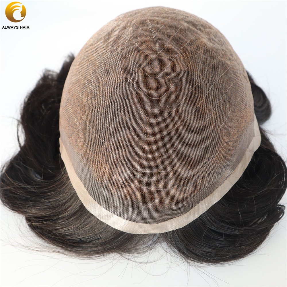100% Indian Virgin Remy Human Hair Toupee 8x10