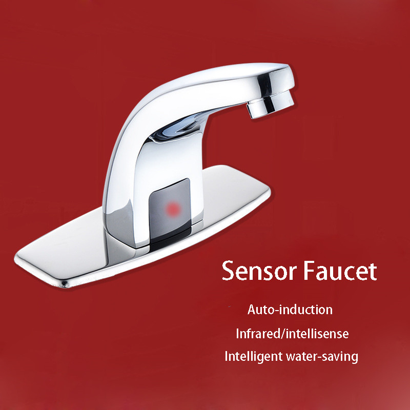 Hot & Cold Bathroom Automatic Touch Free Sensor Faucets water saving Inductive electric Water Tap mixer battery power