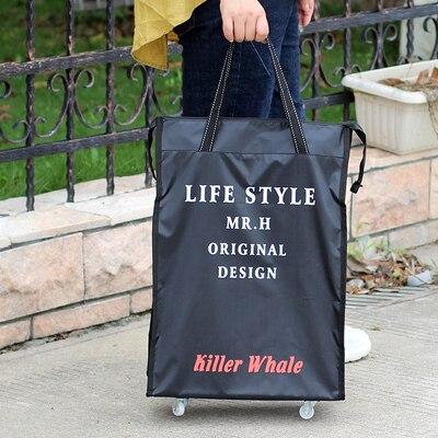 Портативная тележка для продуктов Женская Мужская сумка складная сумка тележка Сумка на колесах купить Сумка для овощей хозяйственная сумка трейлер XYLOBHDG - Цвет: G
