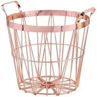 Metal Iron Nordic Style Dirty Clothes Storage Basket Organizer for Home Bedroom Living Room Laundry Room Wäschekörbe Heim und Garten -