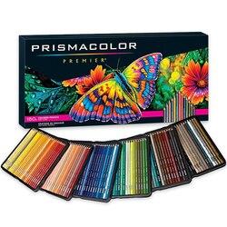 PRISMA Kunst Fettige Farbige Bleistifte 24/48/72/132/150 Farben Lapis de cor Holz Farbige Bleistifte für Künstler Skizze Schule Liefert