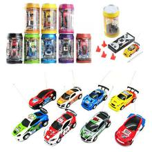 Mini Multicolor Coke Can RC Radio Remote Control Speed Micro Racing Car Toy Gift(China)