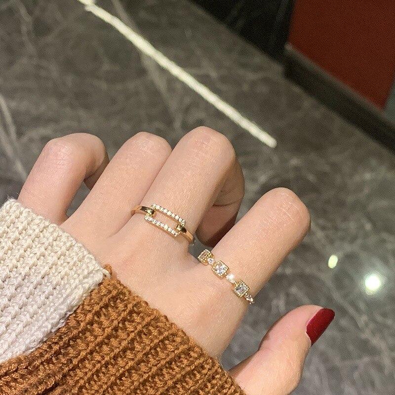 Женские открытые Регулируемые кольца mengjiqiao новые корейские