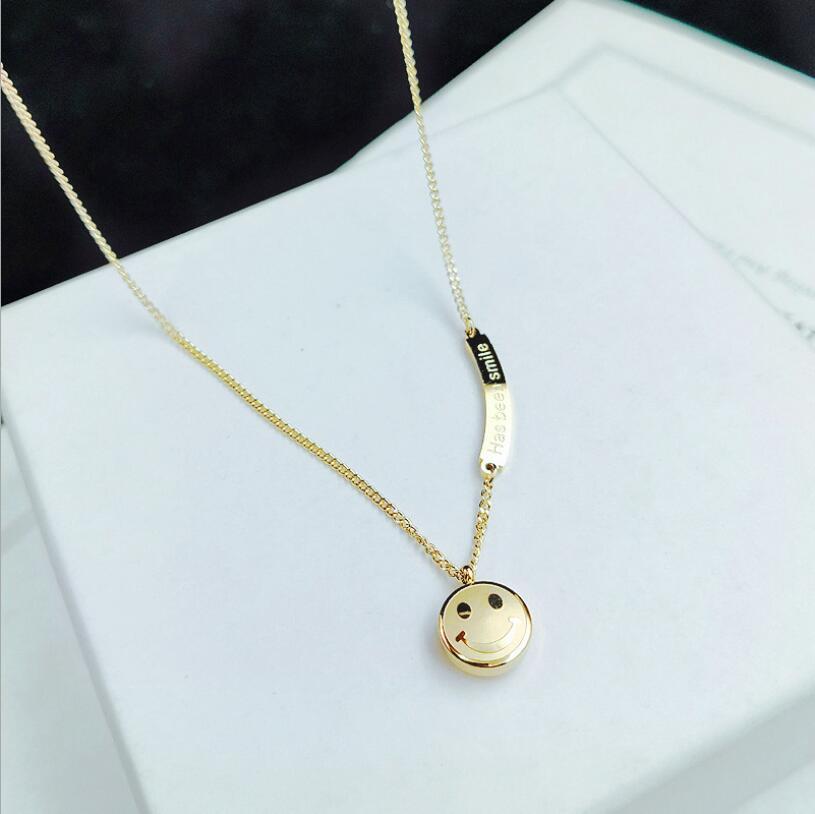 316L нержавеющая сталь 2020 Новая мода ювелирные изделия циркон смайлик Has Heen Smlie чокер колье ожерелья и кулоны для женщин
