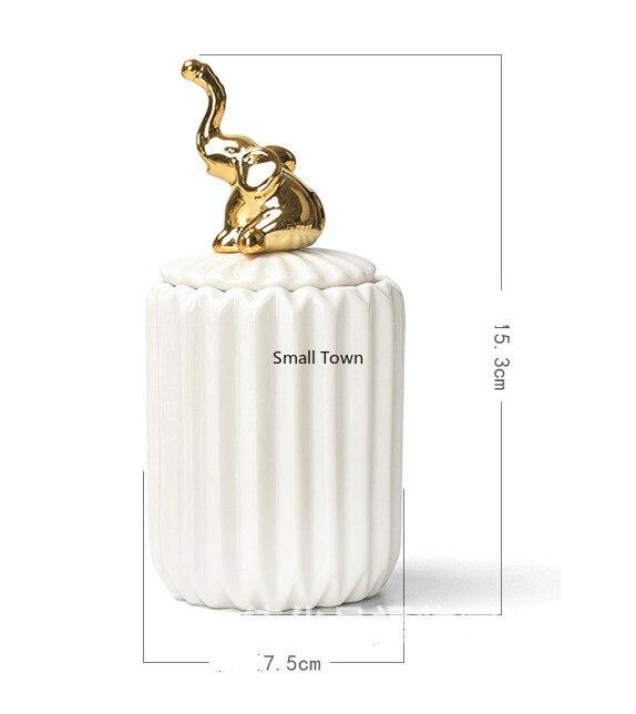 Nordique créatif céramique artisanat placage décoration de la maison scellé pot mariage cadeau boîte de rangement pot de stockage alimentaire conteneur de stockage