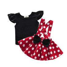 Tollder Girls Dress For Baby Girls Photography Polka Dot Suspender Skirt Match Romper Girls Birthday Clothes Newborn clothes autumn thanksgiving fall winter baby girls brown orange turkey outfits polka dot pant clothes ruffle boutique match accessories