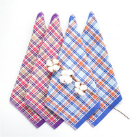 10pcs 35cm Cotton Plaid Hand Towel Dry Purple Blue Beach Towel For Adults Terry Cloth Cleaning Eco friendly Bathroom Supplies
