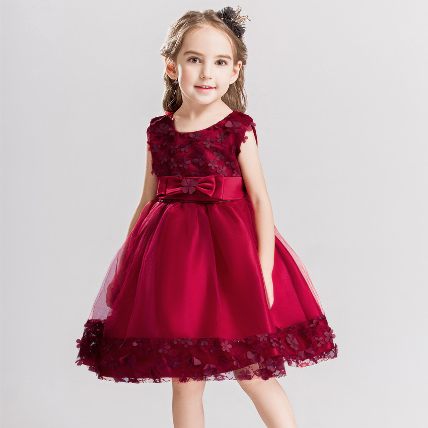Childrenswear New Style Children Lace Dress Girls Flower Dress Big Boy Performance Skirt