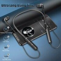 Auriculares inalámbricos de banda para el cuello deportivo magnético 5,1 deportes auriculares estéreo Auriculares auriculares de música de auriculares con micrófono para teléfonos inteligentes
