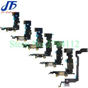 Image 2 - 10 قطعة شاحن USB موصل هيكلي آيفون X 7 8 Plus 7P 8 P 7G 8G شحن ميناء سماعة الصوت جاك فليكس كابل Relacement الجزء