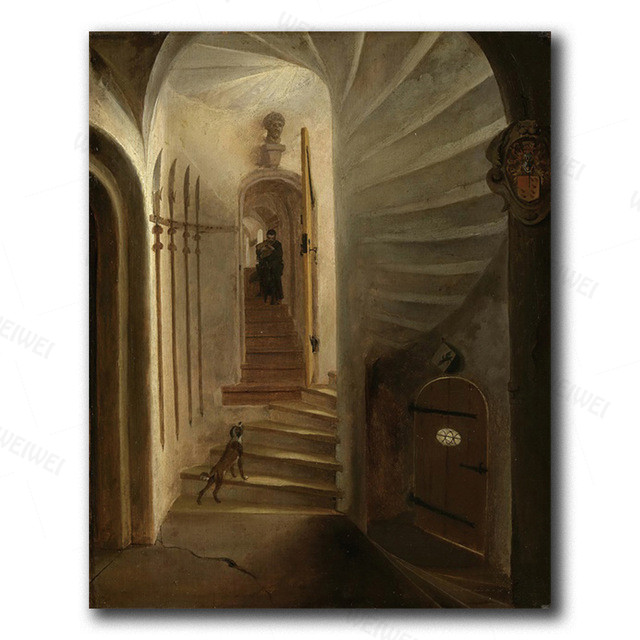 Canvas Wall Art Old Temple By Hubert Robert Painting Classic Art Reproductions 20